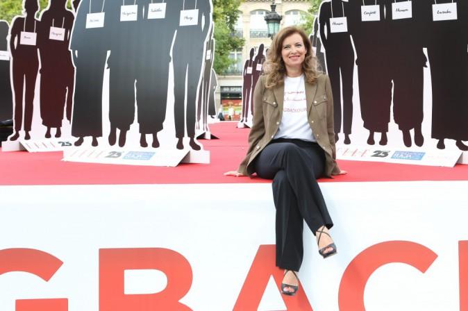 Valérie Trierweiler inaugure le lundi 28 juillet l'exposition Bring Back Our Girls place de la République à Paris