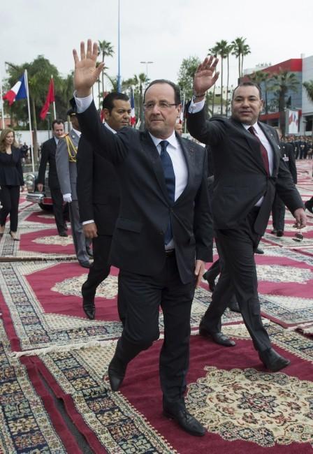 François Hollande arrive au Maroc
