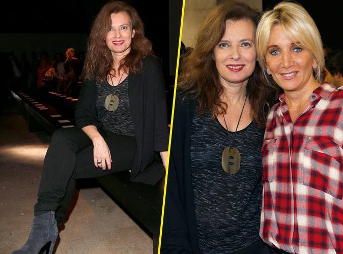 Valérie Trierweiler : la confiance retrouvée, elle s'affiche pleine d'assurance au défilé Paul & Joe !