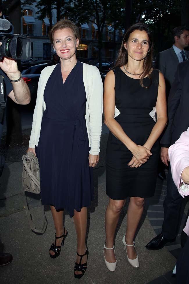 Valérie Trierweiler et Aurélie Filippetti le 30 juin 2012 à Paris