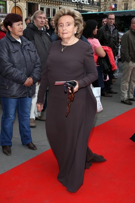 Bernadette Chirac au gala de l'Opéra Garnier, le 15 avril 2013 à Paris
