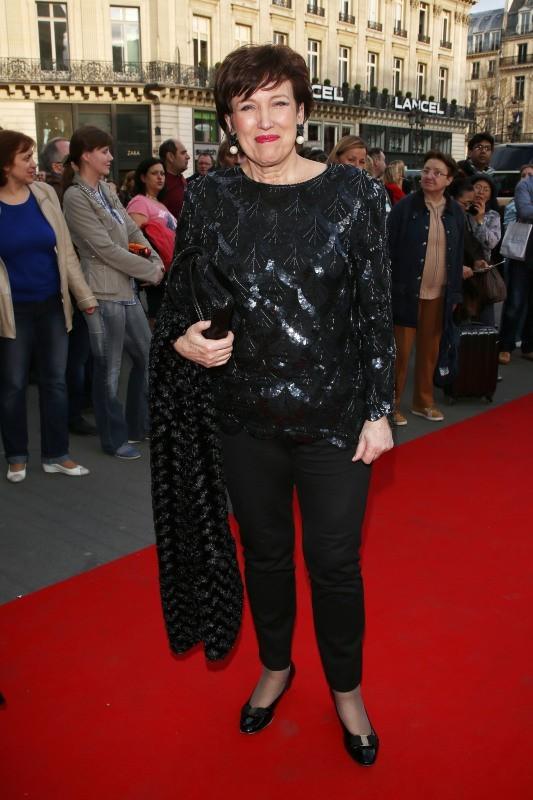 Roselyne Bachelot au gala de l'Opéra Garnier, le 15 avril 2013 à Paris