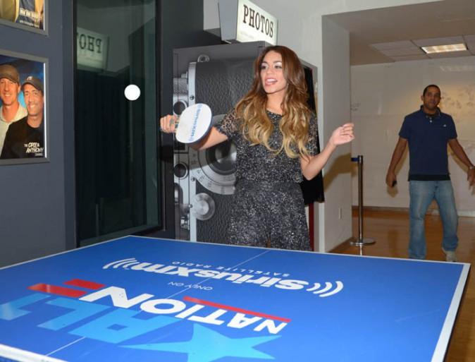 Vanessa Hudgens de passage dans les studios de la radio Sirius XM à New-York le 9 août 2013