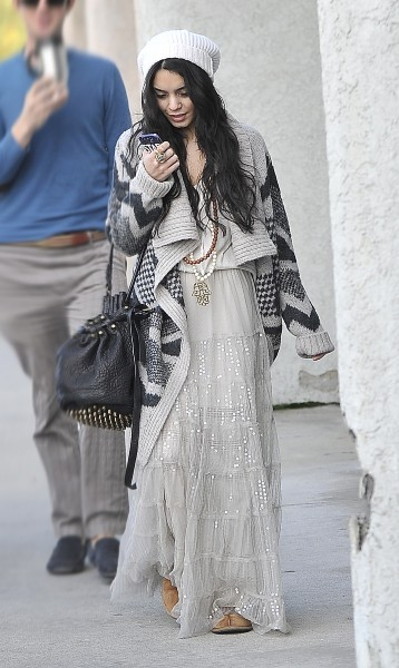 Vanessa Hudgens le 1er janvier 2013 à Los Angeles