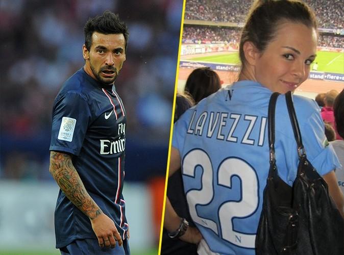 Le joueur Ezequiel Lavazzi et sa femme, le mannequin argentin Yanina Screpante.