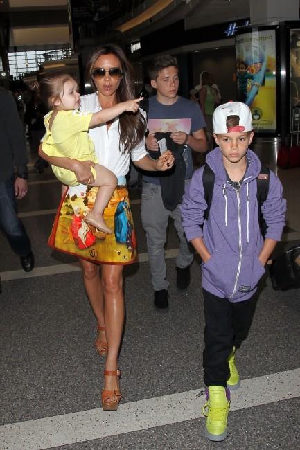 Victoria Beckham en famille, Los Angeles, 1er juin 2013