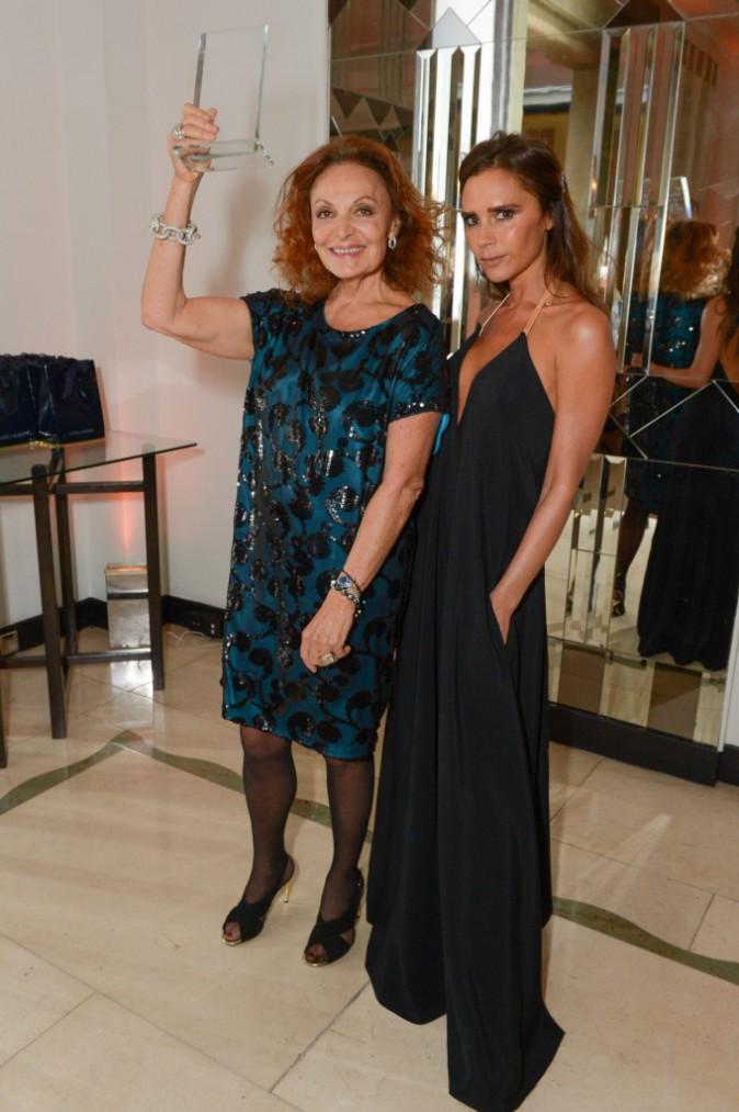Diane von Fürstenberg et Victoria Beckham le 4 novembre2014