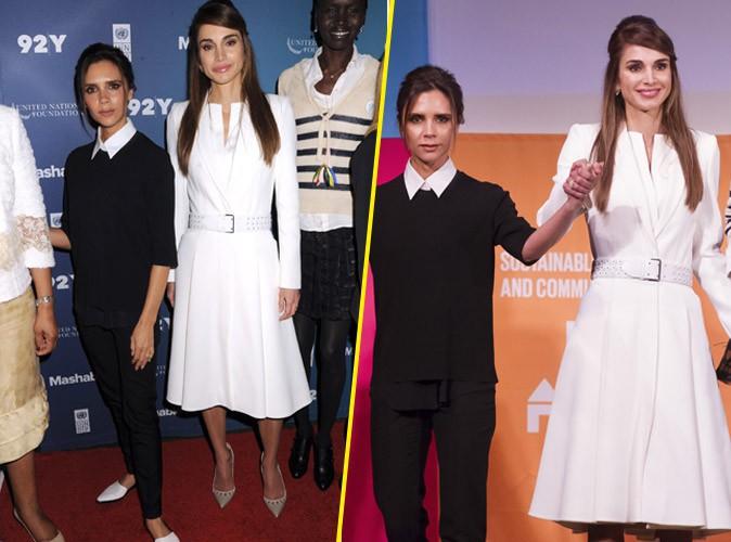 Victoria Beckham et Rania de Jordanie unies et fortes pour la bonne cause !
