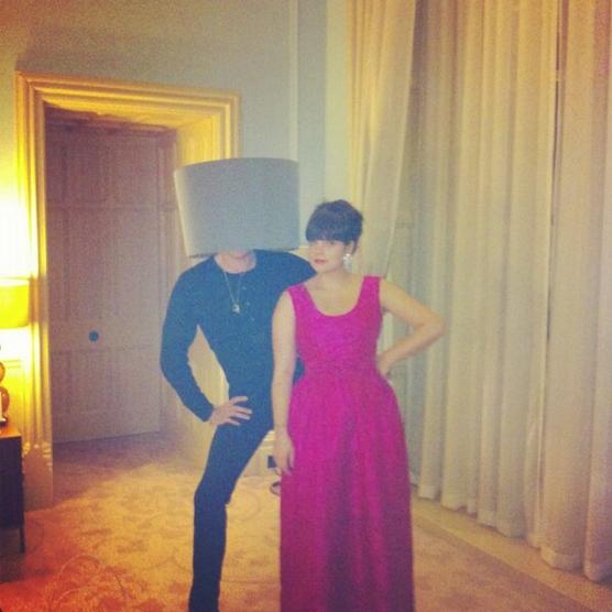 Lily Allen et le présentateur tv Miquita Oliver le 8 février.