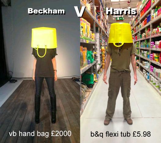 Victoria Beckham parodiée par Guy Harris sur son compte Twitter le 9 février.