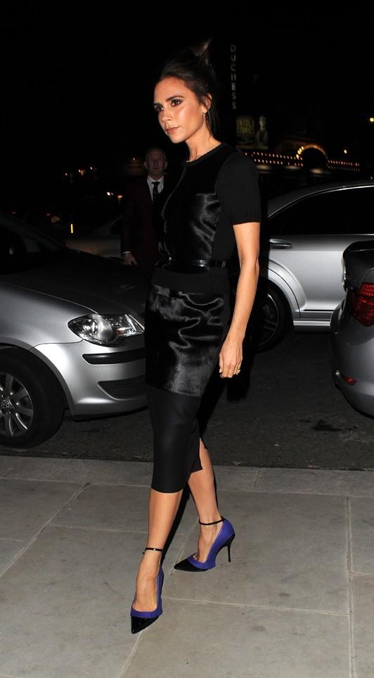 Victoria Beckham à la Fashion Week de Londres le 16 février 2013