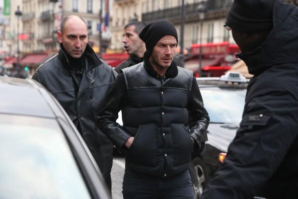David Beckham à la gare du nord à Paris, le 22 février 2013.