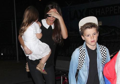 Photos : Victoria Beckham : retour mouvementé à Los Angeles avec sa tribu !