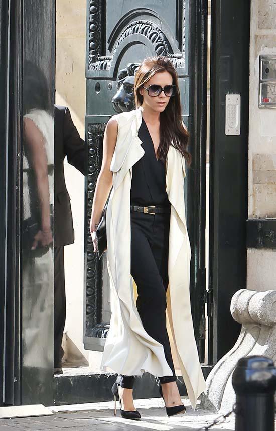 Victoria Beckham à Paris le 27 septembre 2013