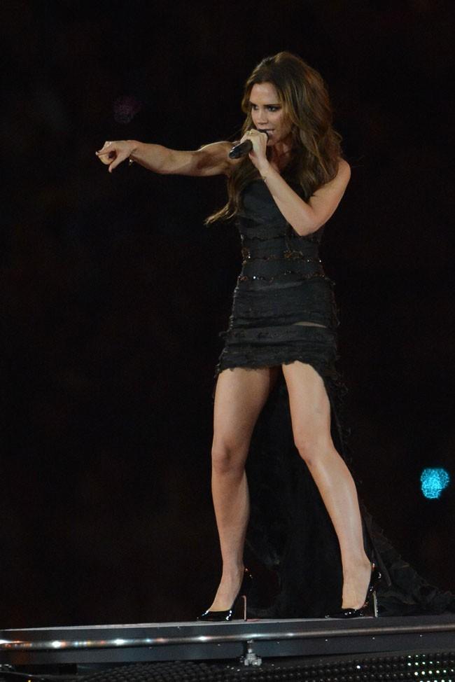 Victoria Beckham lors de la cérémonie de clôture des J.O, le 12 août 2012 à Londres