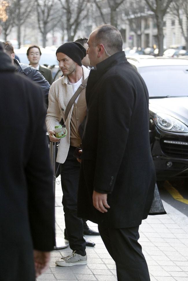 Toute la famille Beckham réunie pour fêter les 8 ans de Cruz au Royal Monceau de Paris le 20 février 2013