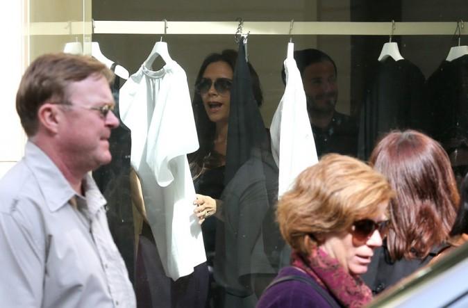 Victoria et David Beckham en virée shopping à Paris le 4 mai 2013