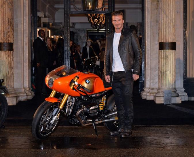 David Beckham à l'inauguration de la nouvelle boutique Belstaff à Londres le 15 septembre 2013