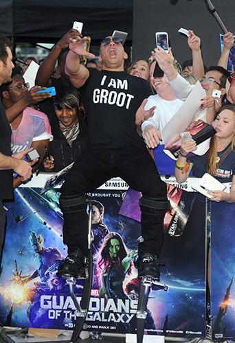 Vin Diesel à Londres le 24 juillet 2014