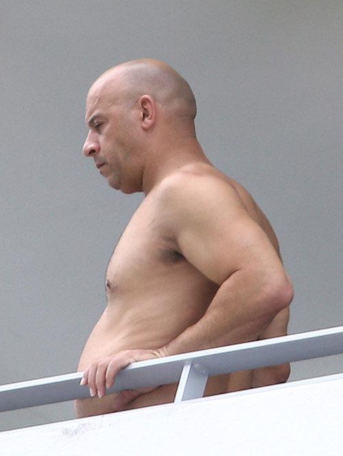 """Photos : Vin Diesel, """"fat and furious"""" à Miami… Il est métamorphosé !"""