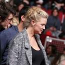 Virginie Efira enceinte lors du Festival de l'Alpe d'Huez, le 19 janvier 2013.