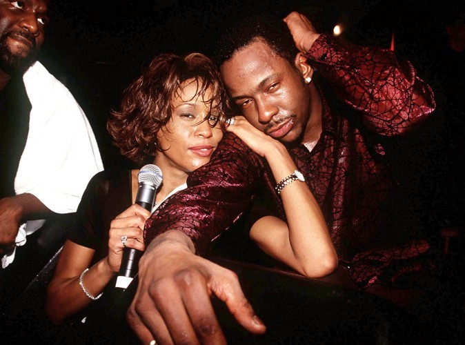 Aux Bahamas en 2000 avec Bobby Brown.