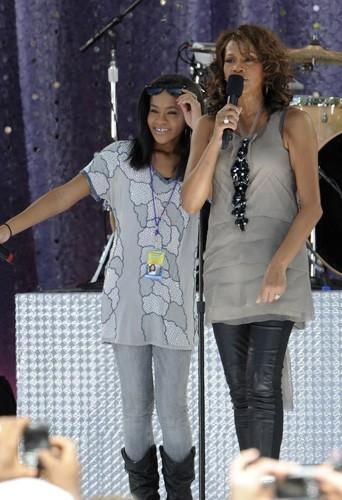 En 2009 lors d'un concert, sa fille à ses côtés.