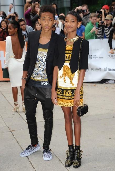 Jaden et Willow Smith en famille au Festival du film de Toronto, le 9 septembre 2012.