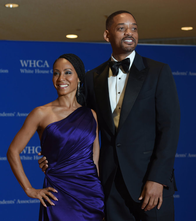 Jada Pinkett et Will Smith à la maison blanche