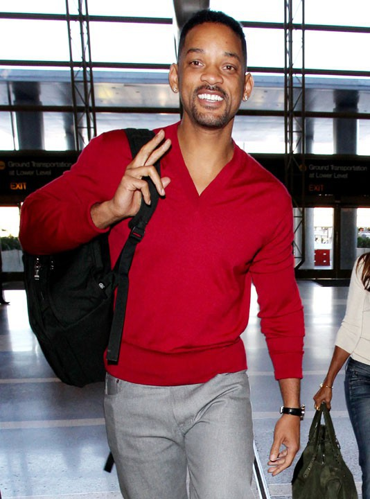 Will Smith et Jada Pinkett à l'aéroport de Los Angeles le 30 décembre 2013