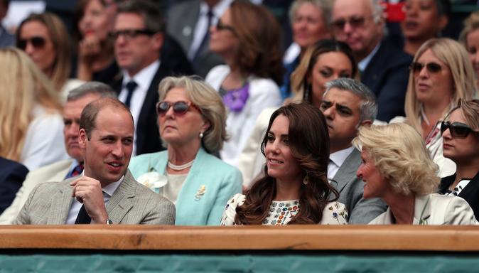 Kate et William de Cambridge à Wimbledon, le 10 juillet 2016