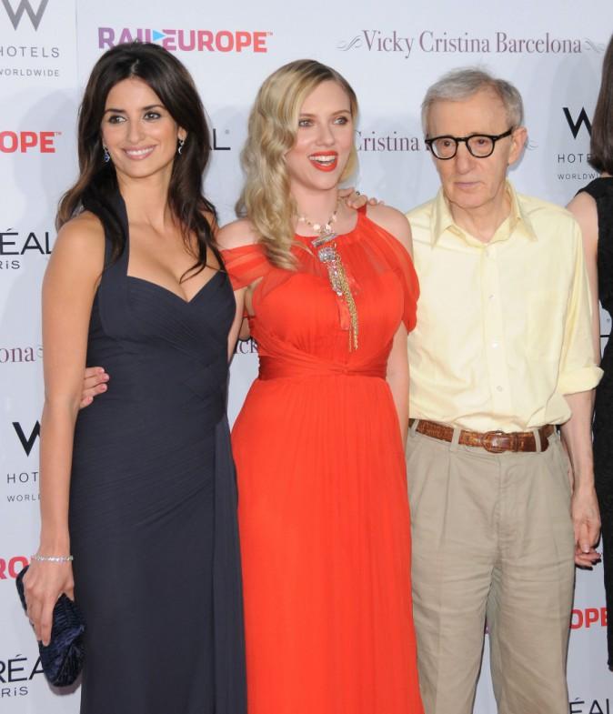 Penelope Cruz, Scarlett Johansson et Woody Allen