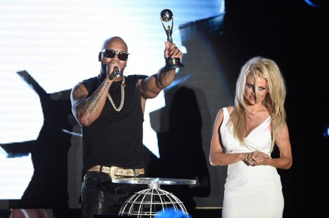 Pamela Anderson à la cérémonie des World Music Awards organisée à Monaco le 27 mai 2014