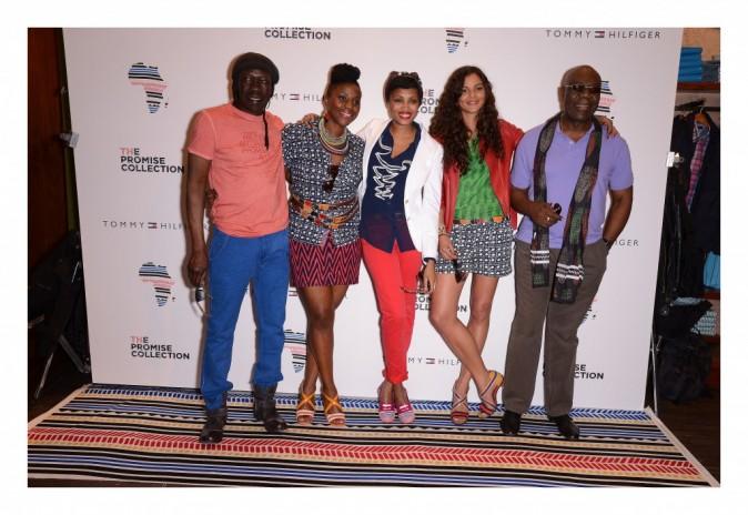 Geoffrey Oryema, Aline Afanoukoe, Imany, Yelena Noah et Manu Dibango lors de la soirée Tommy Hilfiger à paris, le 26 avril 2012.