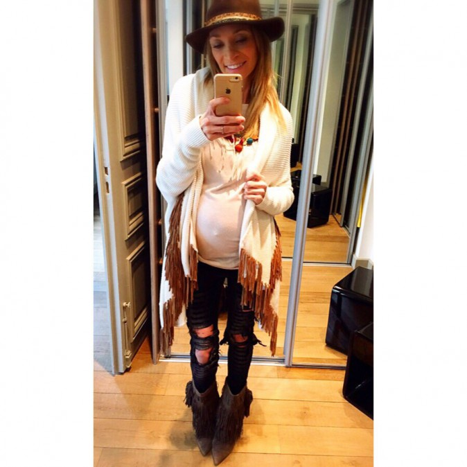 Photos : Yohan Cabaye : sa belle Fiona, femme enceinte stylée !
