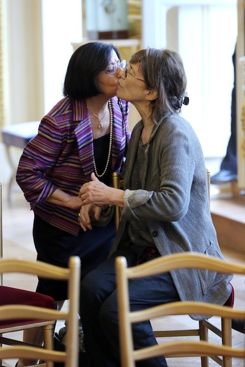 Jane Birkin et la maman d'Yvan Attal