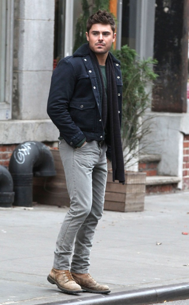 Zac Efron sur le tournage de Are We Officially Dating à New York