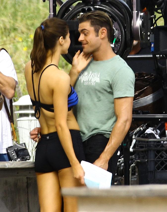 Photos : Zac Efron flirte avec Alexandra Daddario sur le tournage de Baywatch !