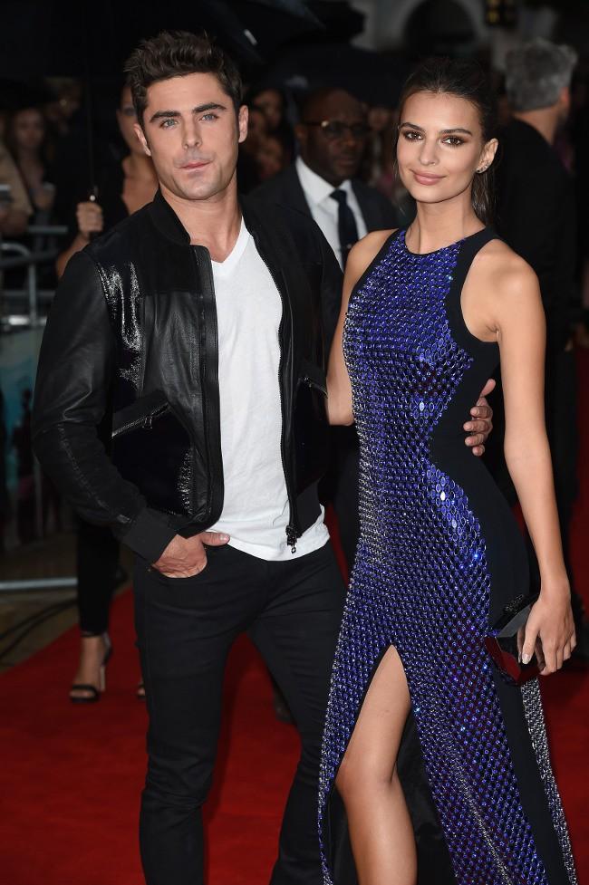 """Zac Efron et Emily Ratajkowski à l'avant-première de """"We are your friends"""" organisée à Londres le 11 août 2015"""