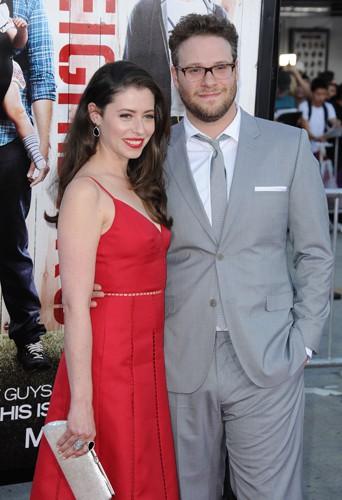 Seth Rogen et Lauren Miller à Los Angeles le 28 avril 2014