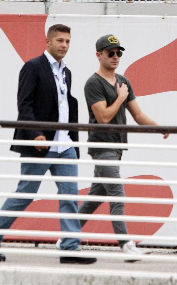 L'arrivée de Zac Efron à Venise la 30 août 2012