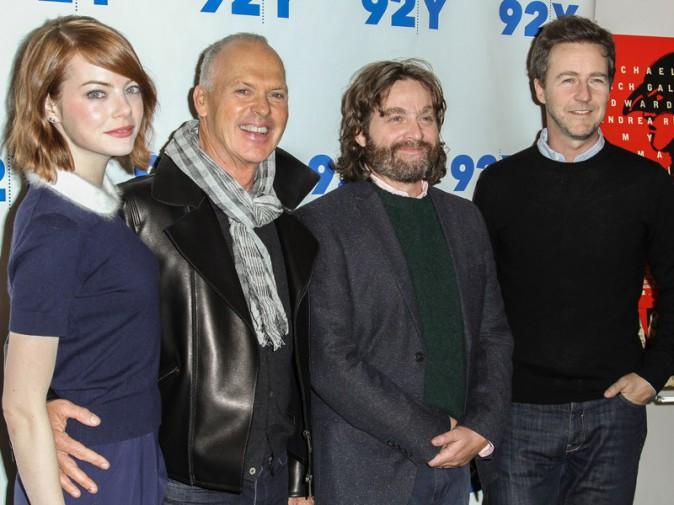 Emma Stone, Michael Keaton, Zach Galifianakis et Edward Norton
