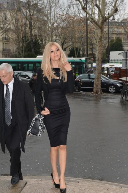 Zahia Dehar à Paris, le 23 janvier 2013.