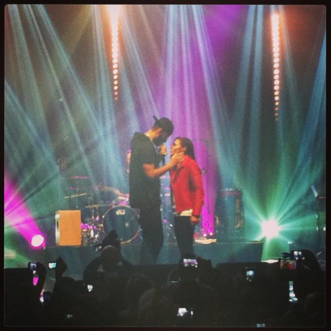 Zaho et La Fouine à l'Olympia, le 19 novembre 2013.