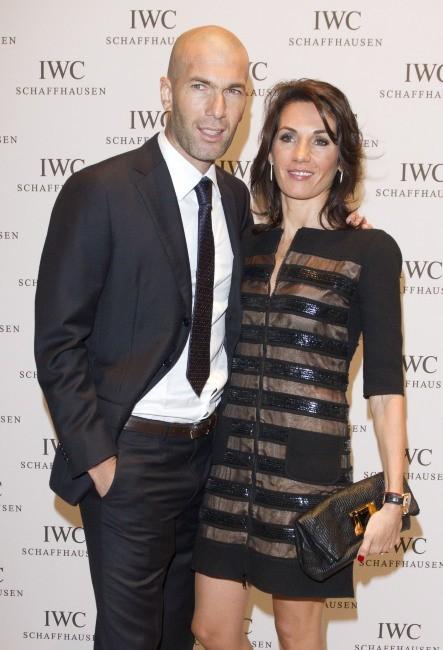 Zinedine Zidane et sa femme Véronique lors de la soirée IWC Schaffhausen Top Gun Gala à Genève, le 17 janvier 2012.