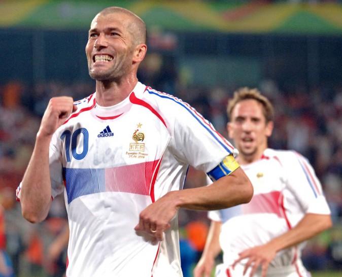 Zizou fou de joie après son but en finale de la Coupe du monde 2006