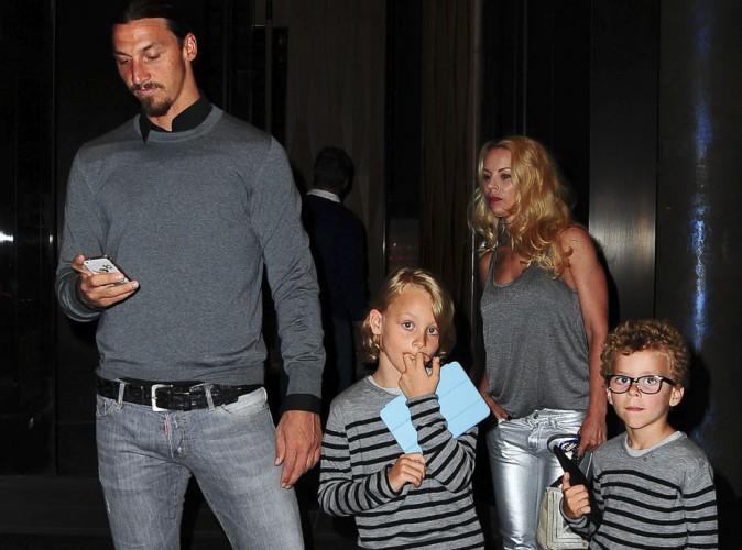 Zlatan Ibrahimovic : sortie avec sa jolie petite famille super stylée dans la nuit new-yorkaise !