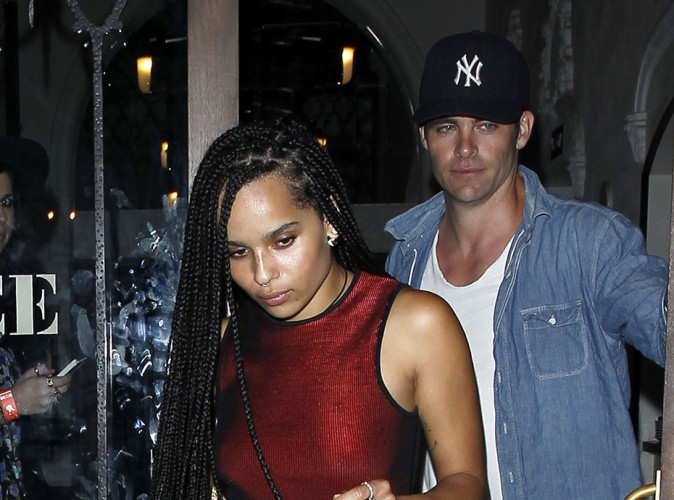 Zoë Kravitz et Chris Pine à Los Angeles le 17 septembre 2014