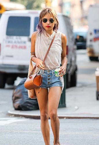 Zoë Kravitz à New-York le 20 août 2013