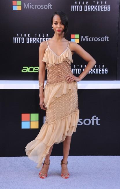 """Zoe Saldana lors de la première hollywoodienne du film """"Star Trek Into Darkness"""", le 14 mai 2013."""